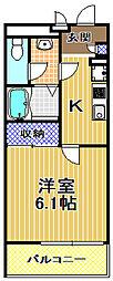 クレイノ梅香[1階]の間取り