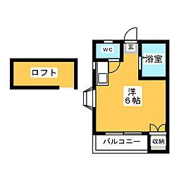 シティライフ箱崎[2階]の間取り