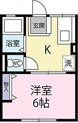 コーポ塚本[203号室]の間取り