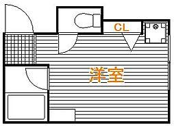東京都葛飾区高砂2丁目の賃貸アパートの間取り