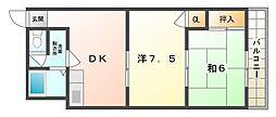 シャトーエンリッチ[2階]の間取り