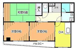 東京都小平市天神町4丁目の賃貸マンションの間取り