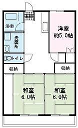 須田マンション[3階]の間取り