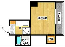 山本ビル[4階]の間取り