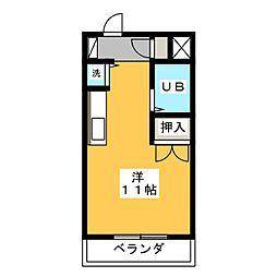 ヴィラ武智寿町[4階]の間取り