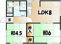 コーポ志井ヶ丘[1階]の間取り