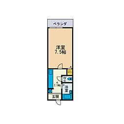 林山ハイツ[2階]の間取り
