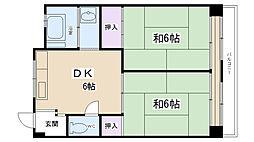 郷免住宅ビル[302号室]の間取り