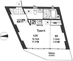 リア横浜[1階]の間取り
