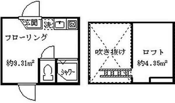 エース鷺宮[102号室]の間取り