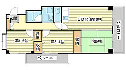 センターロード広畑[301号室]の間取り