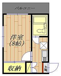 神奈川県相模原市中央区矢部4丁目の賃貸マンションの間取り