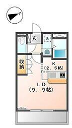 フォンテーヌ・アベニュー1[1階]の間取り