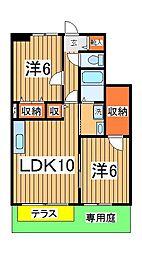 千葉県柏市松ヶ崎の賃貸アパートの間取り