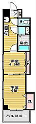 セントラル南船場[11階]の間取り