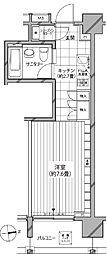 カスタリア麻布十番七面坂[2階]の間取り