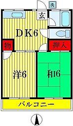 松丸荘[202号室]の間取り