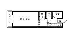 リバティ東伊場[402号室]の間取り