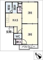 プチタウン神沢BC棟[1階]の間取り