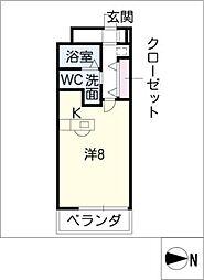 イデア新城[4階]の間取り