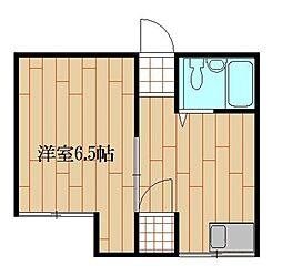 東京都豊島区目白5丁目の賃貸アパートの間取り