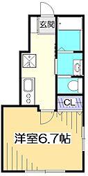 Kメゾン[1階]の間取り