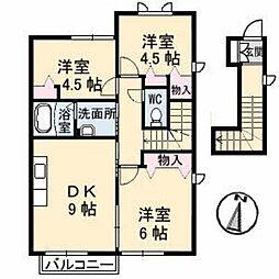 ヴェルセII A棟[2階]の間取り