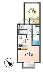 クータウン[1階]の間取り