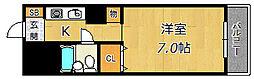 リバーサイド西淀川[1階]の間取り