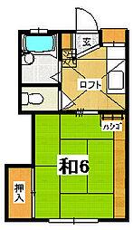 ワイズフラッツB[2階]の間取り