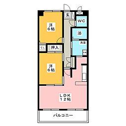 エクセレンス栄[5階]の間取り