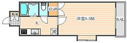 ロイヤル博多駅東84[2階]の間取り