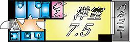兵庫県神戸市灘区弓木町2丁目の賃貸マンションの間取り