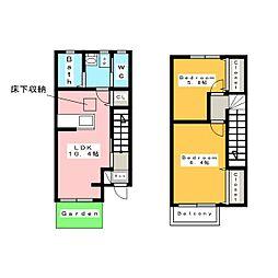 [テラスハウス] 愛知県安城市赤松町新屋敷 の賃貸【/】の間取り