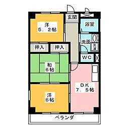 ヴィクトワール 尾崎山[2階]の間取り
