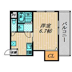 シャルム千林三番館[2階]の間取り