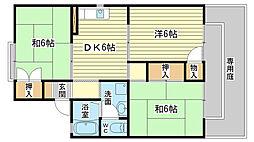 メゾン松本 D棟[202号室]の間取り