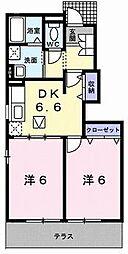 ベルカルムA[0102号室]の間取り