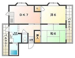 エスポアール下島[3階]の間取り