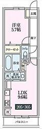 ルーチェ柴崎台[205号室号室]の間取り