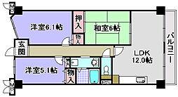 ルノン和泉中央[102号室]の間取り