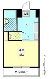 サザンブライト東春日B[303号室]の間取り