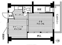 ビレッジハウス下北2号棟[3階]の間取り