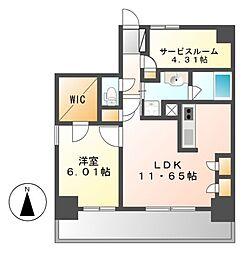 Kamiya Bldg 東桜(カミヤ)[9階]の間取り