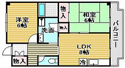 西井MX-1[203号室]の間取り