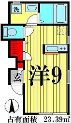 東京都足立区竹ノ塚3丁目の賃貸アパートの間取り