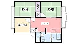 サニーハイツ東甲子園[203号室]の間取り