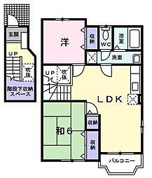 リバーサイド5 A・B[2階]の間取り