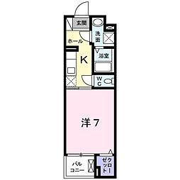 緑区台村町 セリシール[2階]の間取り