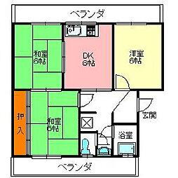 ホープハイツ[1階]の間取り